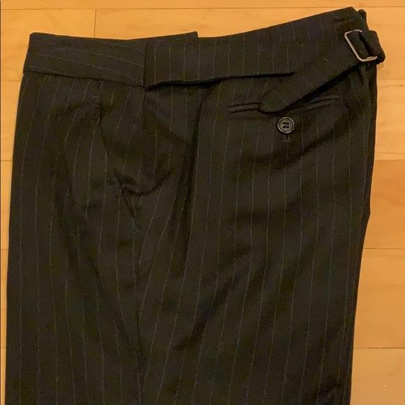 J.Crew wool pinstripe pants low fit size 0